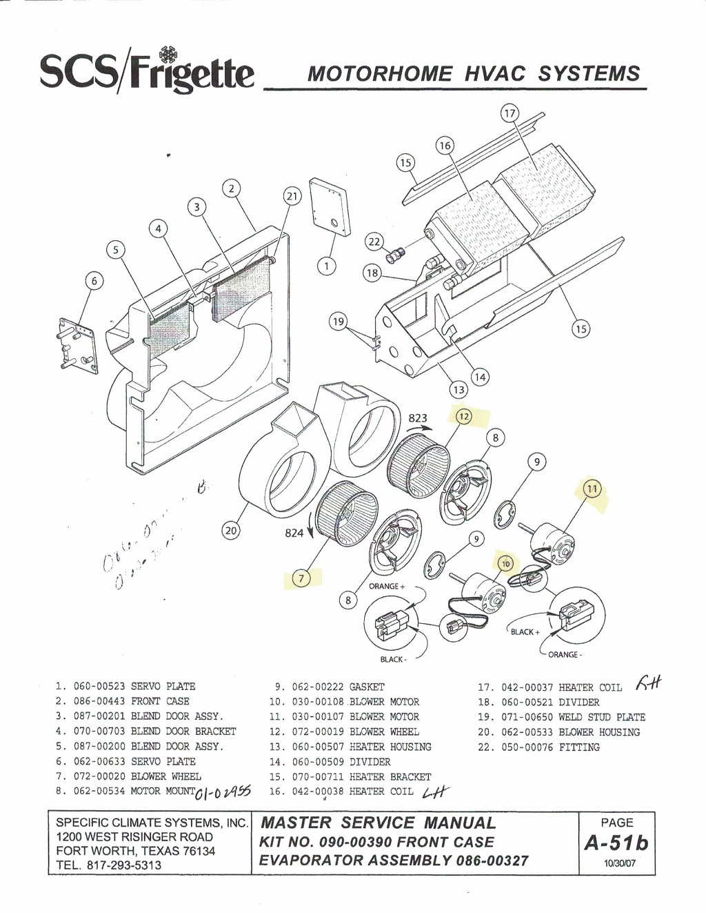 Motorhome Hvac Unit Scs Vcs 088 00228 Comfort Air Inc Rv Parts Drawing For