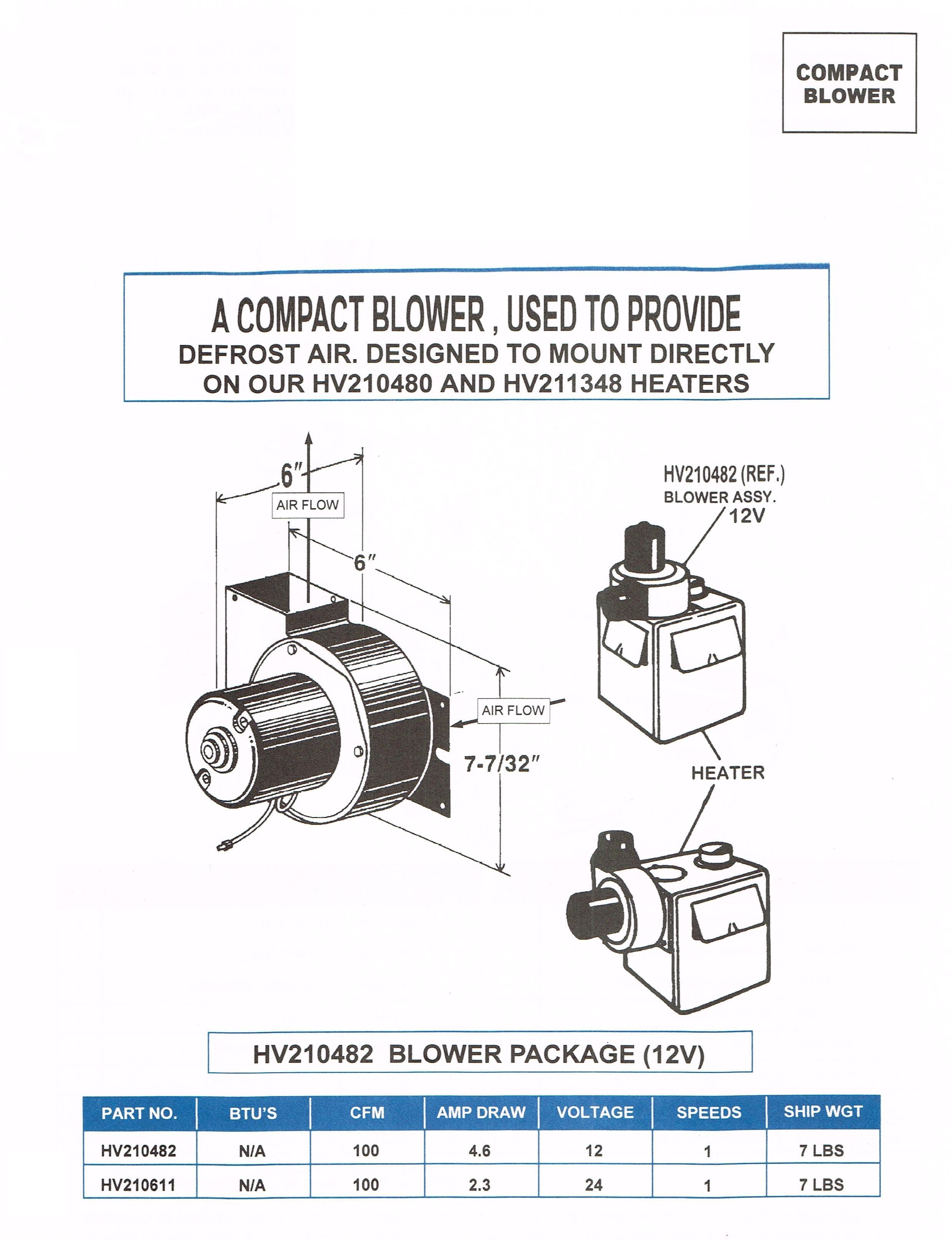 Evans Tempcon Rv Wiring Diagrams Library 12v Blower Assembly Hv210482